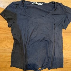 MICHAEL STARS front tie t-shirt